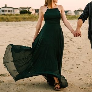 Lulu's Mythical Kind of Love dark green maxi XS